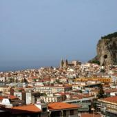 Cefalu City and the Rock