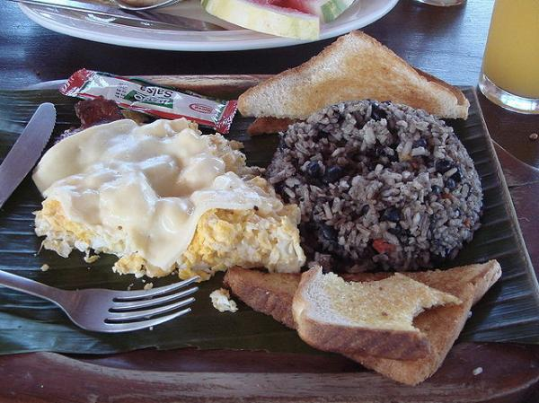 costa rica gallo pinto at breakfast