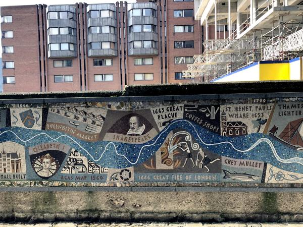 london queenhithe mosaic